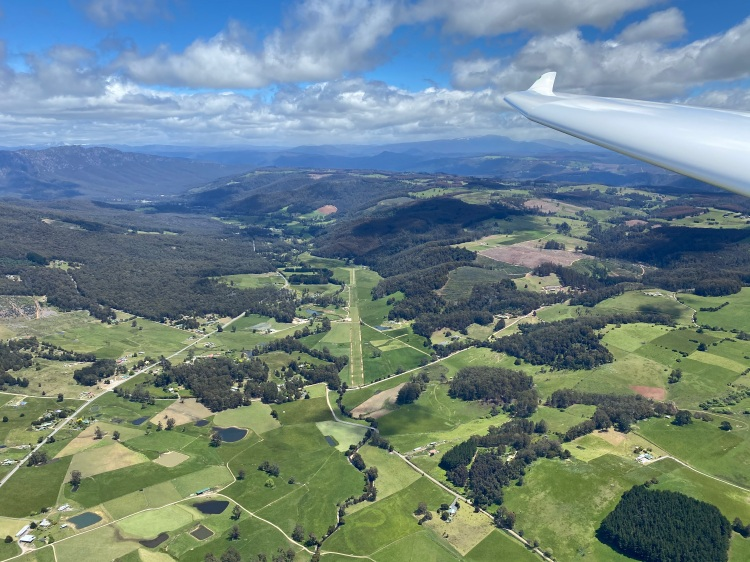 The Vale from the air
